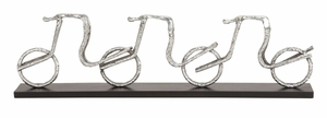 35261 Aluminum Cycle Table Decor � Redefines The  Table Decor Brand Woodland