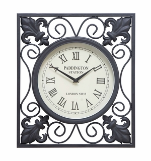 35415 Metal Outdoor Wall Clock- Clock And Wall Decor Brand Woodland