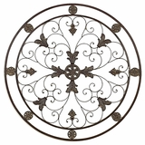"36"" Classic Energy Circular Metal Wall Art Decor Sculpture Brand Woodland"