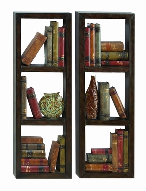 "36"" Classic Library Metal Wall Decor Sculpture  - Set of 2 Brand Woodland"