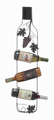 "36"" H Metal Wine Rack with Distinctive Style in Vintage Design Brand Woodland"