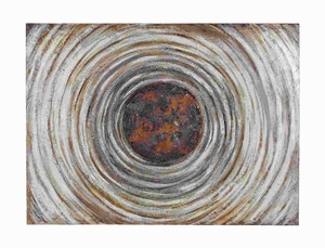 "36"" H Unique Multicolored Canvas Art in Concentric Design Brand Woodland"