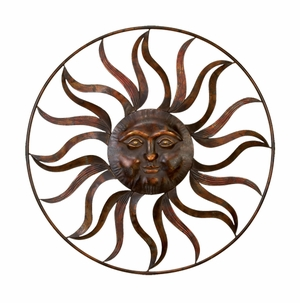 "36"" Sun with Cosmic  Rays Metal Wall Art Decor Sculpture Brand Woodland"