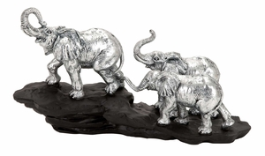 36418 Polystone Elephant �Unique Table Decor With Wild Life Blend Brand Woodland