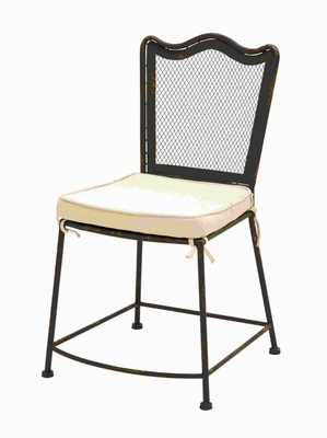 """37""""H Metal Fabric Chair with Highly Stable and Strong Legs Brand Woodland"""