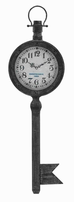 Metal Wall Clock With Elegant Design In Antique Finish - 53308 by Benzara