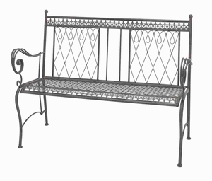 "38"" H Attractive Metal Bench with Smeared in Black Color Brand Woodland"