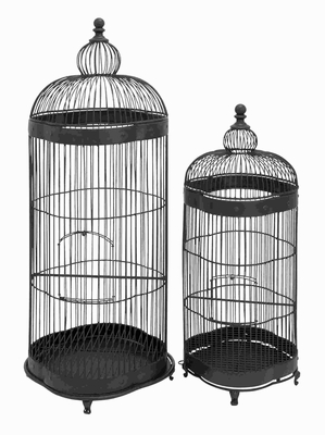"38""H Metal Bird Cage Designed with Fine Attention to Detail Brand Woodland"