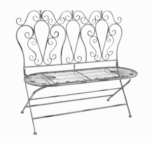 "38""H Metal Love Chair with Foldable Adjustment and Carving Brand Woodland"