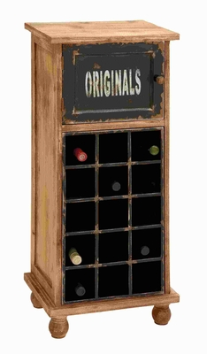 "38""H Wood Wine Cabinet with Traditional Design & Different Decors Brand Woodland"