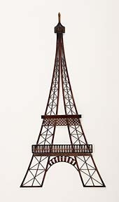 "39"" Classic Metal Art Eiffel Tower Wall Decor Sculpture Brand Woodland"