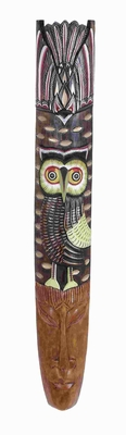 "39"" H Wood Mask Owl Motif for Modern and Conventional Style Brand Woodland"