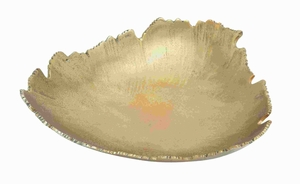 "4""H Aluminium Tray Abstract Leaf Design with A Jagged Edge Brand Woodland"
