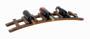 "4""H Wood Wine Rack in Chocolate Brown Finish with Rich Appeal Brand Woodland"