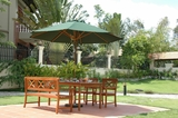 4-Piece Outdoor Eucalyptus Dining Set by Vifah