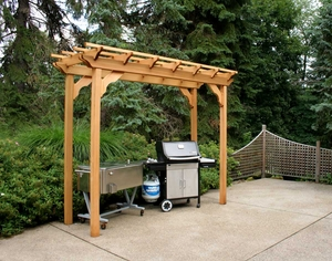 4' x 10' Cedar New Dawn Pergola by Creekvine Design