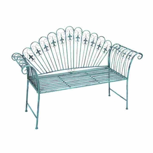 "40""H Metal Bench with Modern or Conventional Style Decor Brand Woodland"