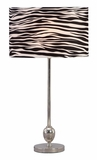 40096 Metal Table Lamp � Marine Beauty In Black And White Brand Woodland