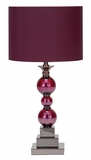 40101 Metal Glass Table Lamp: New Statement Of Table Top Decoration Brand Woodland