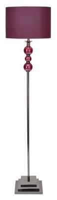 40102 Metal Glass Floor Lamp- Just A Look Over It Is Enough To Buy Brand Woodland