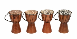 40321 Wood Drum Set Of 4- Blend Your Music Love With Decor Sense Brand Woodland