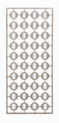"41"" H Metal Mirror Wall Decor with Delicate Metal Links Brand Woodland"
