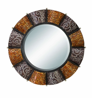 "42714 Metal Mirror 32""D- Multipurpose Home Decor Brand Woodland"