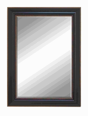 "43""H Polystone Beveled Mirror Framed with Super Solid Resin Wood Brand Woodland"