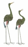"43"" H Traditional and Unique Metal Crane Pair (Set of 2) Brand Woodland"
