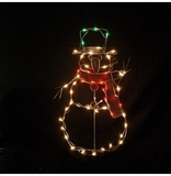 """43"""" Snowman Outdoor Decoration by Alpine Corp"""