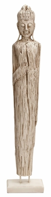 43893 Polystone Buddha �Ideal To Support Any Room Decor Brand Woodland