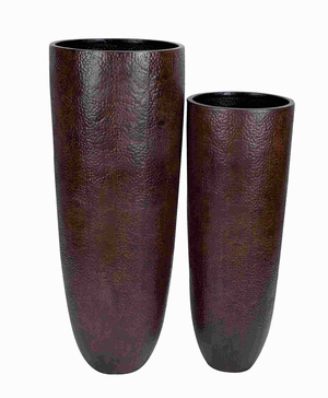 "44"" Metal Vase with Wider Rim and Narrow Base (Set of 2) Brand Woodland"