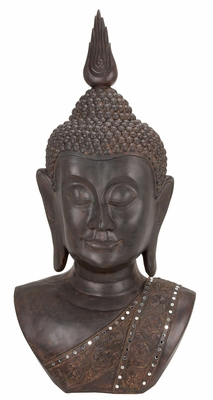 44215 Polystone Buddha Bust - Impress The Visitors With Decor Sense Brand Woodland
