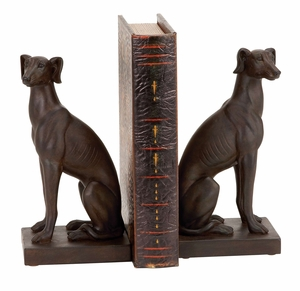 POLYSTONE DOG BOOKEND PAIR DESIGNED FOR ELITE CLASS - 44658 by Benzara