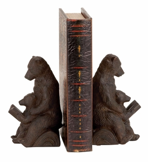 44660 Polystone Bear Bookend Pair- An Unique Decor For Study Room Brand Woodland