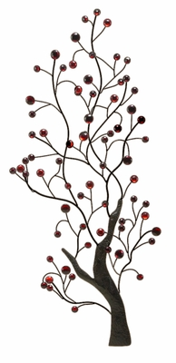 "46"" Contemporary Cherry Tree Metal Wall Art Decor Sculpture Brand Woodland"