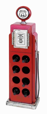 "47"" H Wood Gas Pump Wine Rack for Modern and Conventional Decor Brand Woodland"