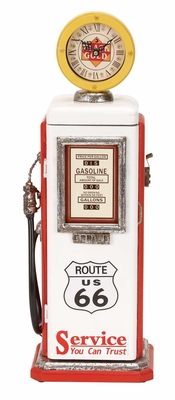 49767 Wood Gas Pump Clock- Time Checking Was Never So Trendy Brand Woodland
