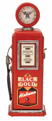 49768 Wood Gas Pump Clock- Perfect Choice To Brighten Dull Decor Brand Woodland
