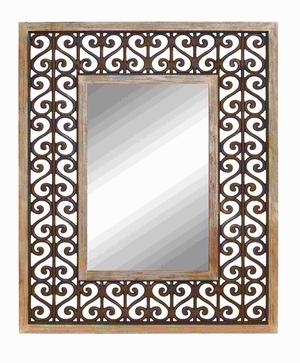 "50""H Durable and Long Lasting Wood Frame High Quality Mirror Brand Woodland"