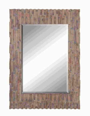 "50""H Wood Frame Mirror with Suits Conventional and Modern Decor Brand Woodland"