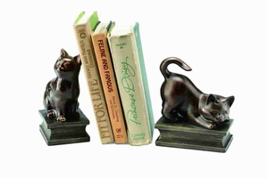50648 Playing Cat Bookends Brand SPI-HOME