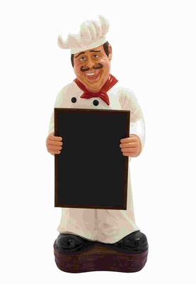 "51"" H Chef with Menu Board in Hand For Writing Specials Brand Woodland"