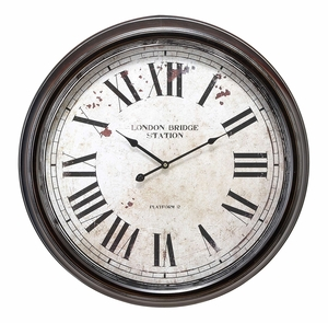 52102 Metal Wall Clock � Adds Value To Wall Decor Brand Woodland