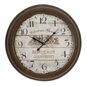 52500 Metal Wall Clock � Buy It To Support Existing Decor Appeal Brand Woodland