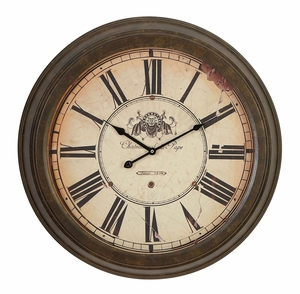 52502 Metal Wall Clock � Blend Existing Decor With Antique Theme Brand Woodland