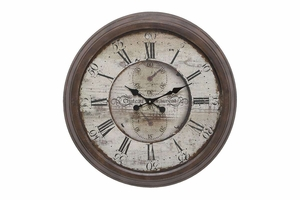 52515 Metal Wall Clock � Becomes Center Of Attraction Brand Woodland