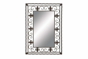 "52702 Metal Wall Mirror 43""H, 30"" W- For Royal Feel Brand Woodland"