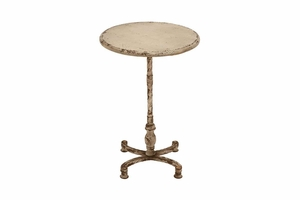 """52714 Metal Accent Table 26""""H, 18""""W- Supports Any Furniture Style Brand Woodland"""