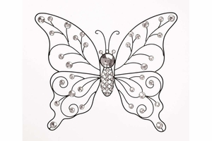"""53010 Metal Butterfly 21""""W, 18""""H- Colorful Wall Decoration Brand Woodland"""